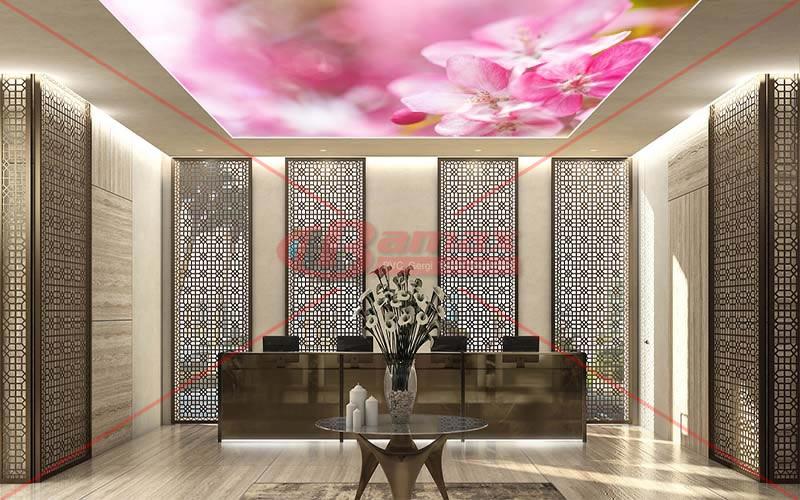 HD Gergi Tavan çiçek basılı