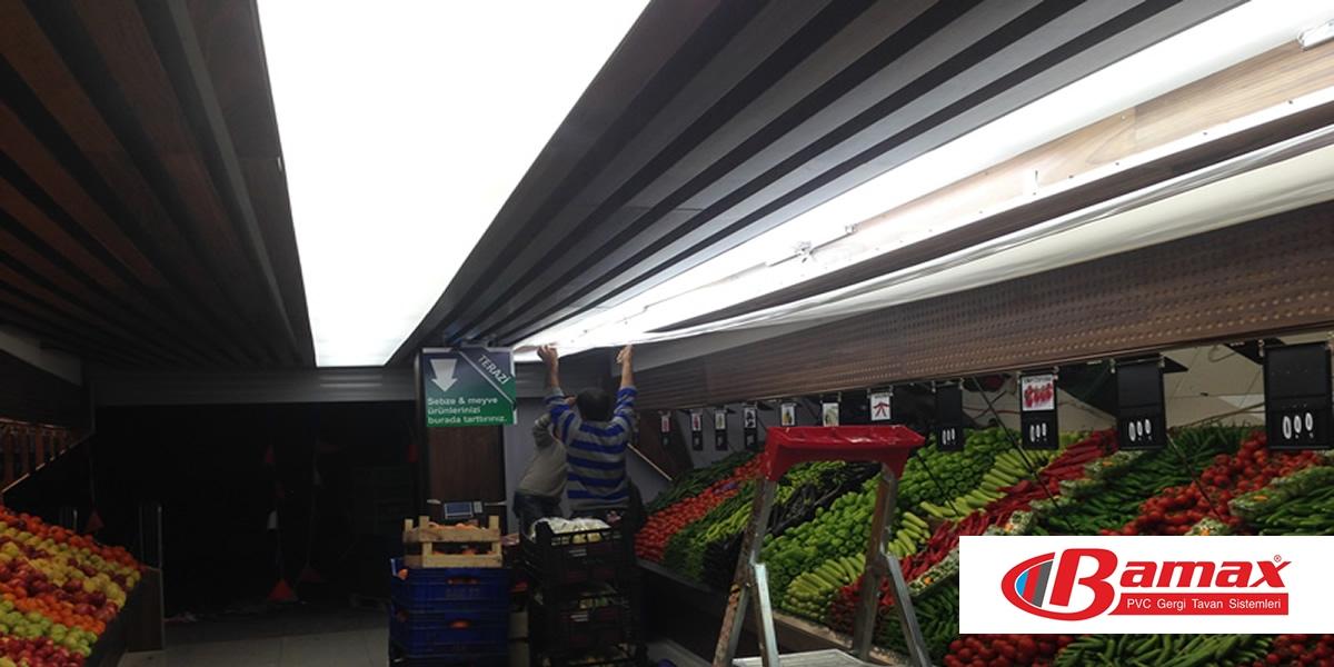 Efor Market Gergi tavan uygulaması
