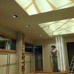 Kaya tekstil-gergi tavan uygulaması