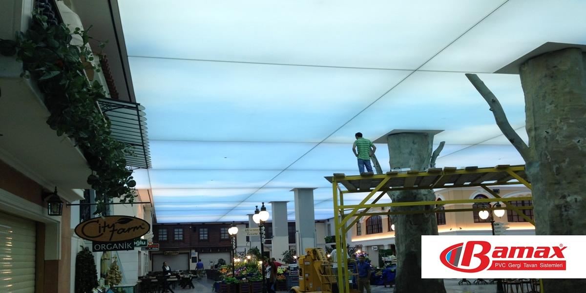 Alış veriş merkezi Gergi tavan uygulama-3