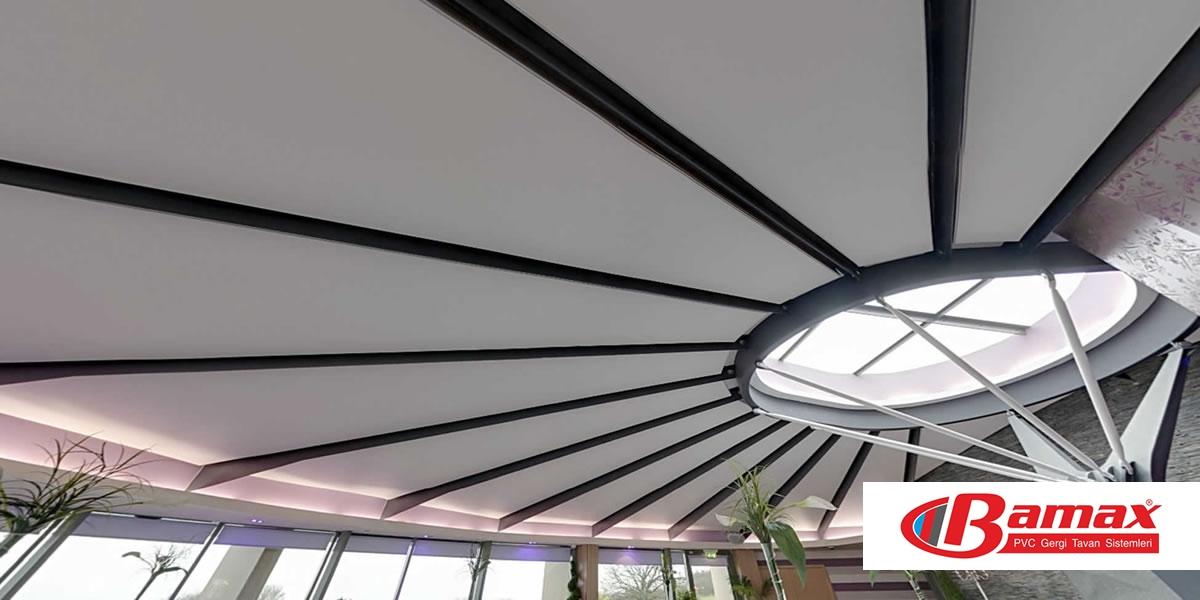 Alış veriş merkezi Gergi tavan uygulama-5