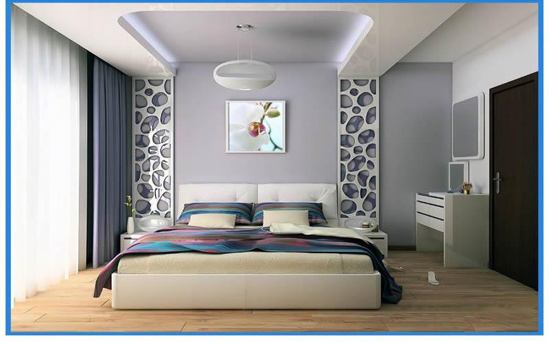 Yatak odasına özel gergi  tavan modelleri