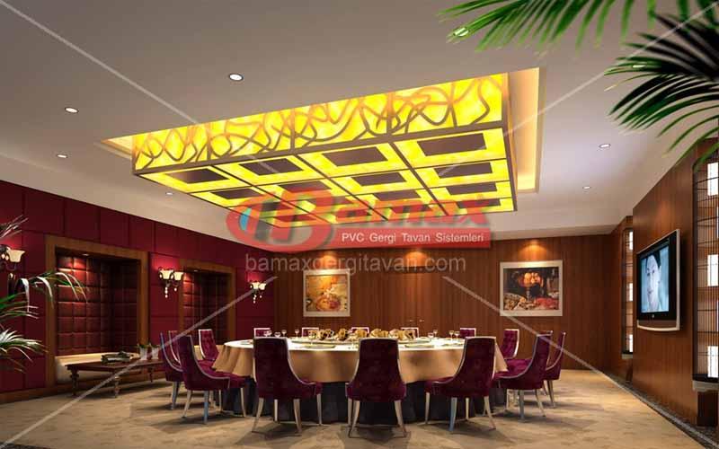 Restaurantlarda gergi tavan