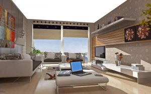 gergi tavan ev uygulaması, ışıklı gergi tavan, germe tavan, barisol tavan