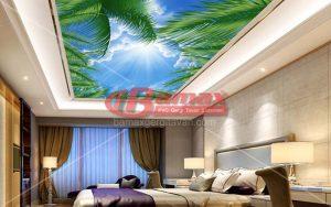 Şilede yatak odalarında gergi tavan