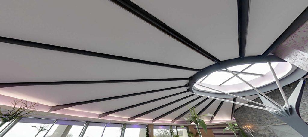 Ses yalımı ile daha sessiz mekanlar için akustik gergi tavan, Akustik gergi tavan