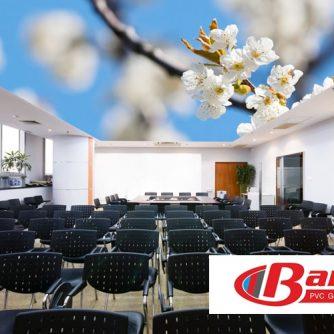 Dijital baskı gergi tavan toplantı salonu uygulaması