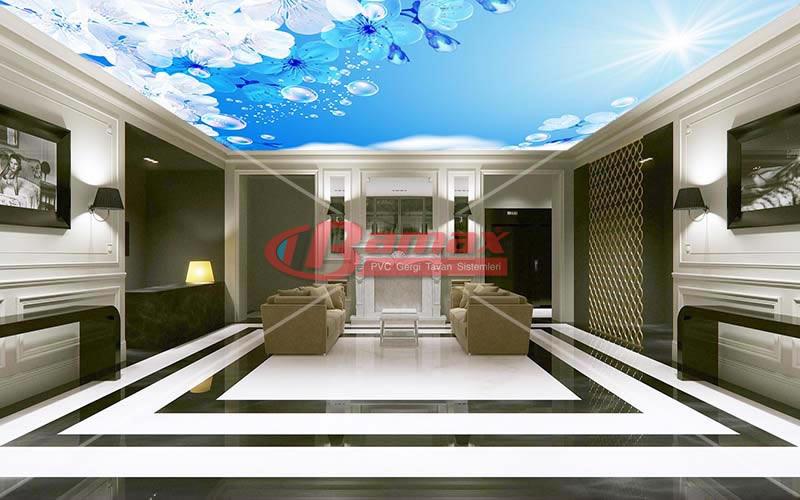 HD Gergi Tavan oturma odası