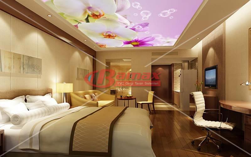 HD Gergi Tavan yatak odası uygulaması