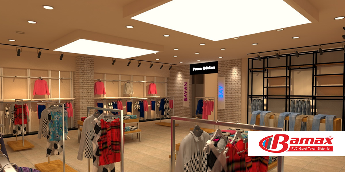 Işıklı doku gergi tavan, transparan gergi tavan, gergi tavan sistemi, germe tavan, pvc tavan