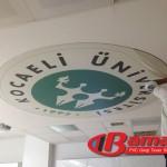 Kocaeli üniversitesinde dijital baskı gergi tavan uygulaması