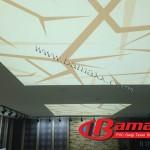 dijital baskı gergi tavan mağaza tavanı uygulaması