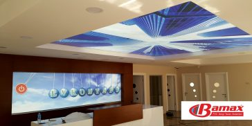 Evkon Construction Tensioner Ceiling Application