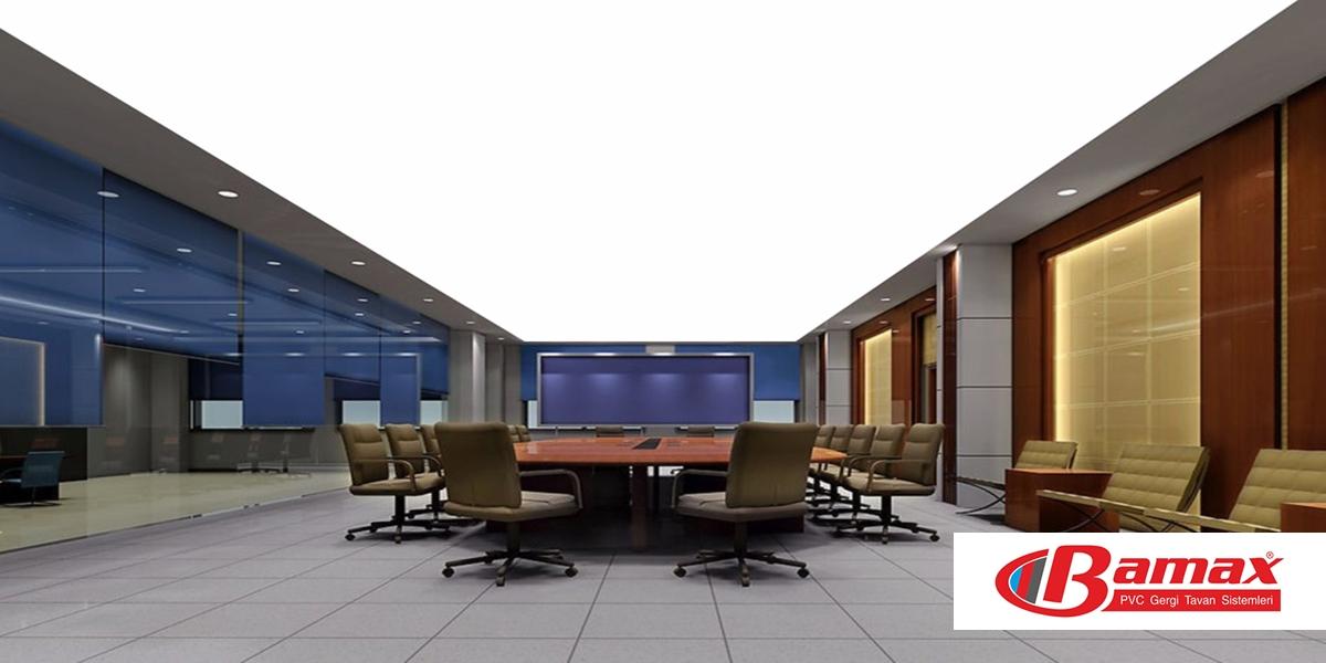 Gergi Tavan Ofis uygulamaları, gergi tavan, germe tavan, Gergi Tavan Nedir?