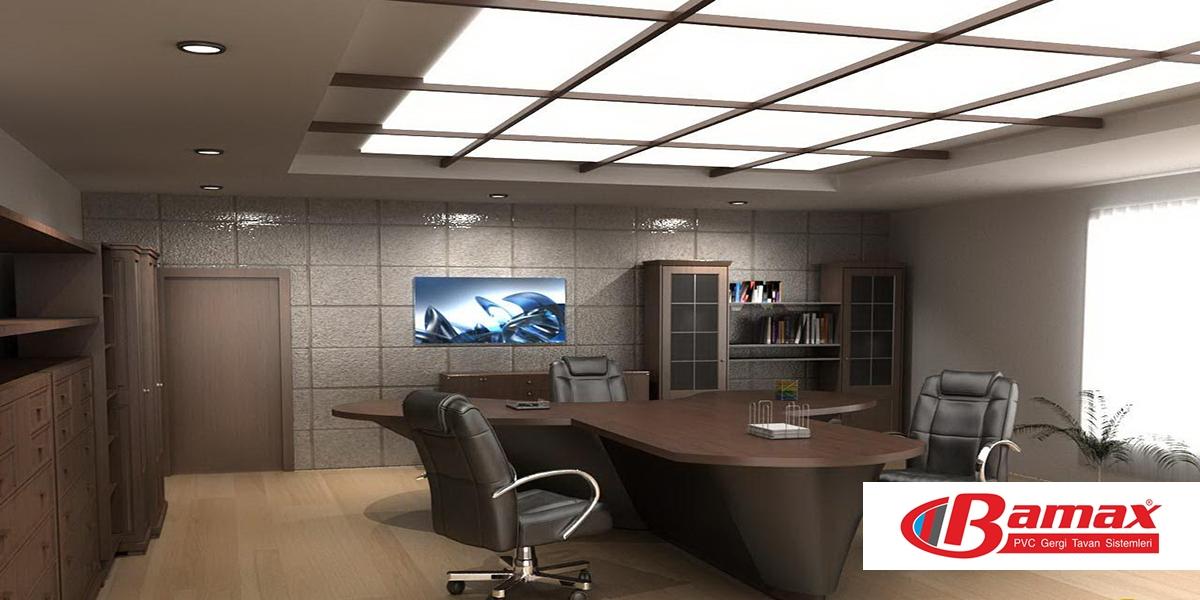 Gergi Tavan Nedir? gergi tavan ofis uygulaması, ofis dekorsyonları