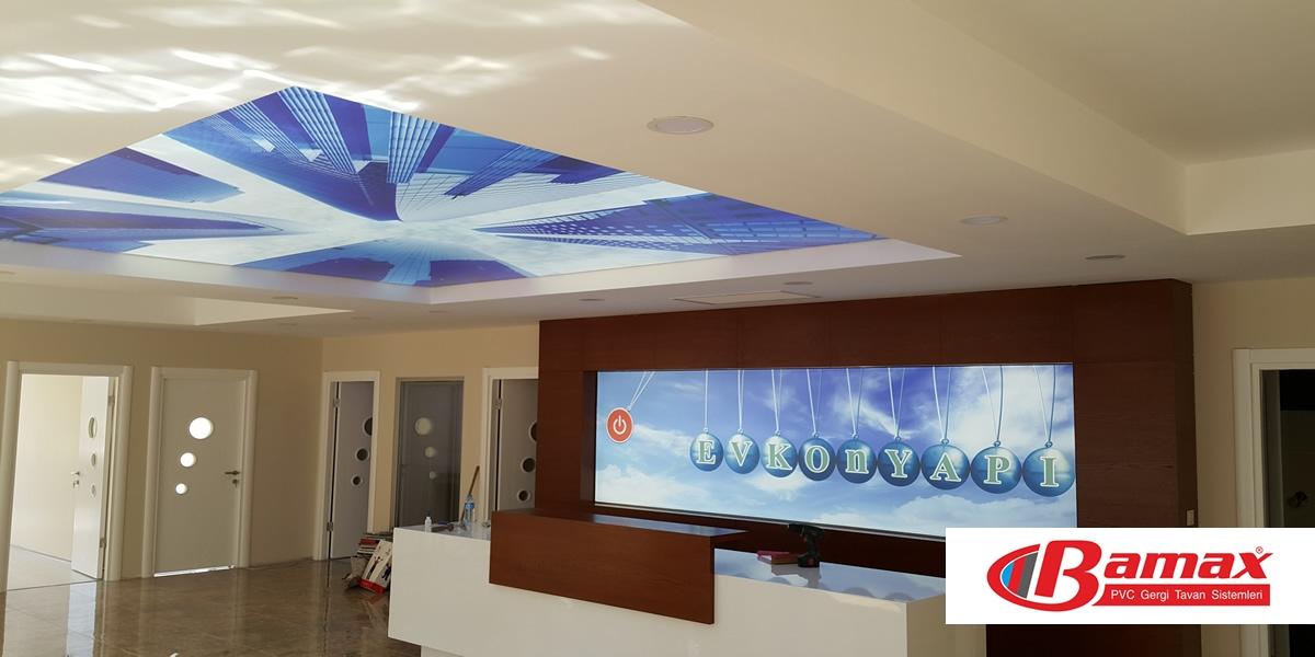 gergi tavan uygulamalar, germe tavan, gergi tavan, barisol tavan, Gergi tavanın faydaları