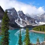 Kanada-Moraine-golu,-Banff-Ulusal-parki,-Alberta,-Kanada-gergi-tavan-gorseli