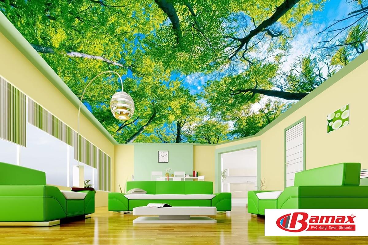 gergi tavan sistemleri ev iş yeri tavan dekorasyonlarında , Gergi tavanın Dekorasyonda Etkisi