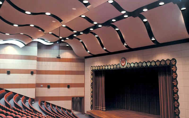 akustik gergi tavan, Akustik gergi tavan Uygulaması