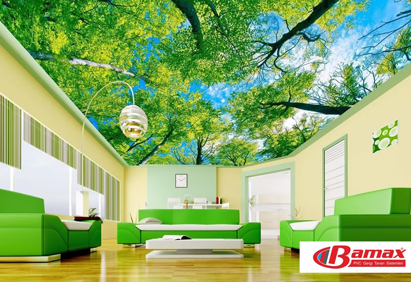 Effect of stretch ceiling on decoration