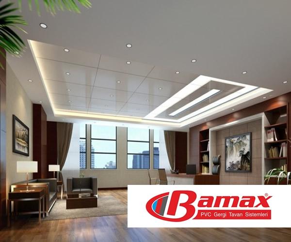 Ofis dekorasyonlarında gergi tavan uygulaması