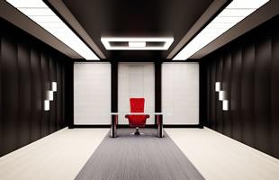 Işıklı doku gergi tavan ile ofis aydınlatması, Işıklı gergi tavan