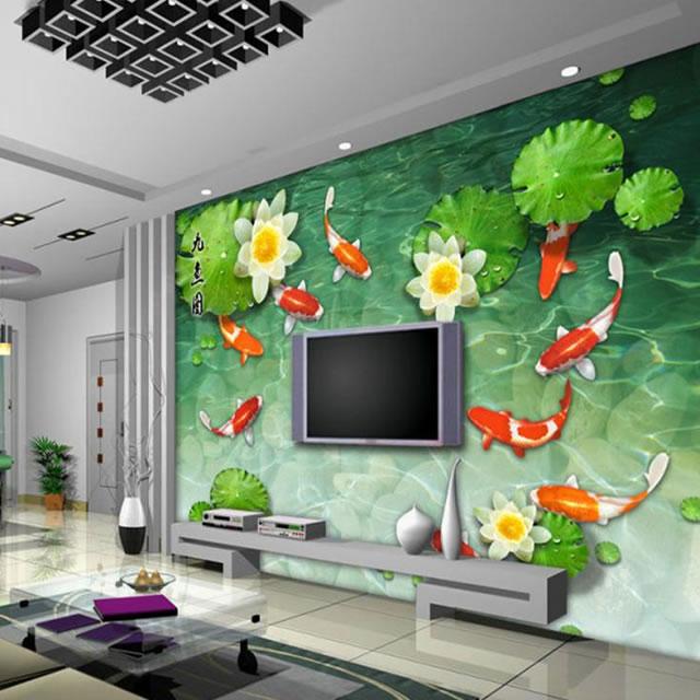 Salonda duvar kağıdı tasarımları