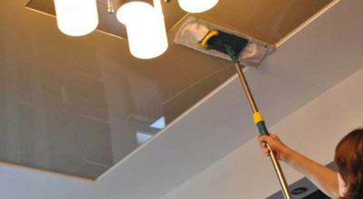 gergi tavan bakımı ve temizlemesi, gergi tavan temizleme